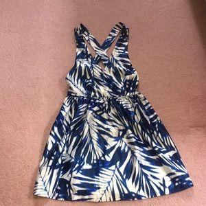 Open cross back dress